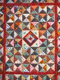 abstrakt bakgrundsfärg Handgjord prydnad för patchwork Royaltyfri Foto