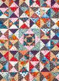 abstrakt bakgrundsfärg Handgjord prydnad för patchwork Royaltyfri Fotografi