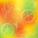 abstrakt bakgrundsfärgfrukter Royaltyfria Foton