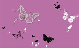abstrakt bakgrundsfjärilar Royaltyfri Bild