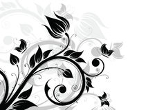 abstrakt bakgrundsfjärilsblommor vektor illustrationer