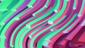 abstrakt bakgrundsflöde Våglinjer illustration 3d Rörelseillusion Royaltyfri Fotografi