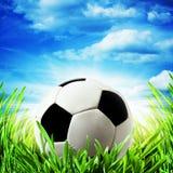 abstrakt bakgrundsfotboll Arkivbild