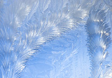 abstrakt bakgrundsfrostfönster Arkivbilder