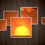 abstrakt bakgrundsfyrkanter Arkivfoton