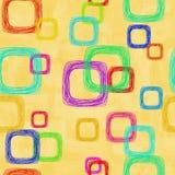 abstrakt bakgrundsfyrkanter Arkivbilder