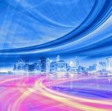 Abstrakt bakgrundsillustration av snabb trafikrörelse Arkivfoto