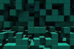 abstrakt bakgrundskuber Royaltyfri Bild
