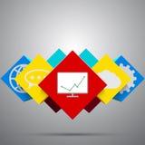 abstrakt bakgrundskuber Vektor Eps10 stock illustrationer