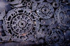 abstrakt bakgrundskugghjul Arkivfoton