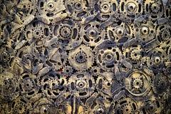 abstrakt bakgrundskugghjul Fotografering för Bildbyråer