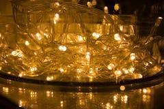 abstrakt bakgrundslampor LEDD belysning, färgglade festoons, Ne Arkivfoton