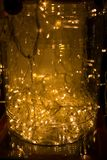 abstrakt bakgrundslampor LEDD belysning, färgglade festoons, Ne Royaltyfri Fotografi