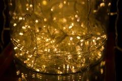 abstrakt bakgrundslampor LEDD belysning, färgglade festoons, Ne Royaltyfria Foton
