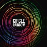 Abstrakt bakgrundsmall med cirkelregnbågefärger Arkivbild