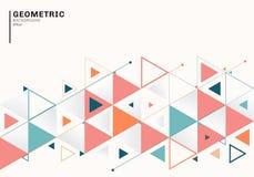 Abstrakt bakgrundsmall med f?rgrika trianglar och pilar f?r aff?r och kommunikation i plan stil geometrisk modell vektor illustrationer