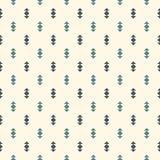 abstrakt bakgrundsminimalist Enkelt modernt tryck med pilar Blått färgar den sömlösa modellen med geometriska diagram royaltyfri illustrationer