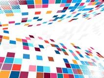 abstrakt bakgrundsmosaikfyrkant Fotografering för Bildbyråer