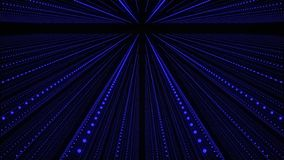 abstrakt bakgrundsmusikal Korridor f?r solida v?gor Fl?ta samman av solida partiklar framf?rande 3d royaltyfri illustrationer