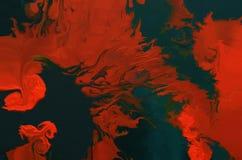 abstrakt bakgrundsoljemålning Färgrik digital illustration royaltyfri illustrationer
