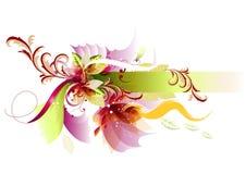 abstrakt bakgrundsramtext Vektor Illustrationer