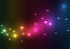 abstrakt bakgrundsrasterlampor Arkivfoto