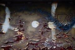 Abstrakt bakgrundsrost och att skala målarfärg & grafetti Royaltyfria Foton