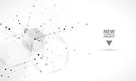abstrakt bakgrundssexhörning Polygonal design för teknologi stock illustrationer