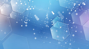 abstrakt bakgrundssexhörning Polygonal design för teknologi Digita vektor illustrationer