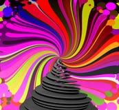 abstrakt bakgrundsspiral Fotografering för Bildbyråer