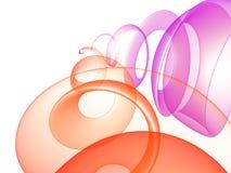 abstrakt bakgrundsspiral Royaltyfri Bild