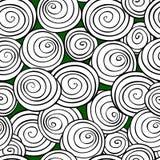 abstrakt bakgrundsspiral Sömlös modell för monokrom vektor Royaltyfri Bild