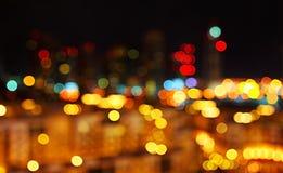 abstrakt bakgrundsstadslampor Fotografering för Bildbyråer