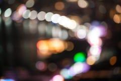 abstrakt bakgrundsstadslampor Royaltyfri Fotografi
