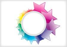 abstrakt bakgrundsstjärna Royaltyfri Fotografi