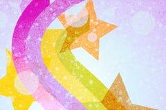 abstrakt bakgrundsstjärnawallpaper Royaltyfri Foto