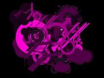 abstrakt bakgrundssymboler Royaltyfria Bilder
