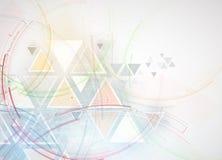 abstrakt bakgrundstech Futuristisk teknologimanöverenhet Vecto Royaltyfri Fotografi