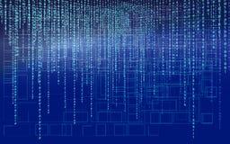 abstrakt bakgrundsteknologi Rengöringsdukbärare blå i lager skärm för koddator djupt programmering coding En hackerbegrepp vektor illustrationer