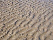 Abstrakt bakgrundstextur av krusig sand Royaltyfri Bild