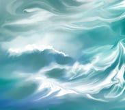abstrakt bakgrundsvattenwaves royaltyfri illustrationer