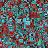 abstrakt bakgrundsvektor Består av geometriska beståndsdelar Beståndsdelarna har en fyrkantig form och en olik färg Fotografering för Bildbyråer