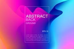 abstrakt bakgrundsvektor Fradient fluid krabb effektbakgrund Färgrik textur med krabbt motiv Baner reklamblad, räkning Arkivbilder