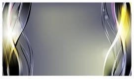 abstrakt bakgrundsvektor Ljusa krökta vågor för annonsering glödande linjer vektor illustrationer
