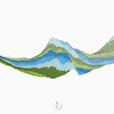 abstrakt bakgrundswaves mosaik vektor 3d Arkivbilder