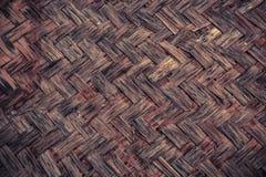 Abstrakt bambu som väver texturbakgrund Arkivbild