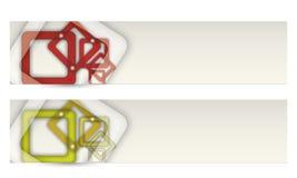 Abstrakt baner vektor illustrationer