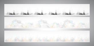 Abstrakt baner för lösning för internetdatateknikaffär Arkivfoto