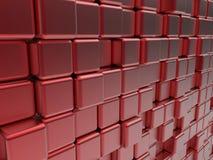 Abstrakt baner för röda kuber stock illustrationer