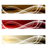 Abstrakt baner för tre vektor Royaltyfria Bilder